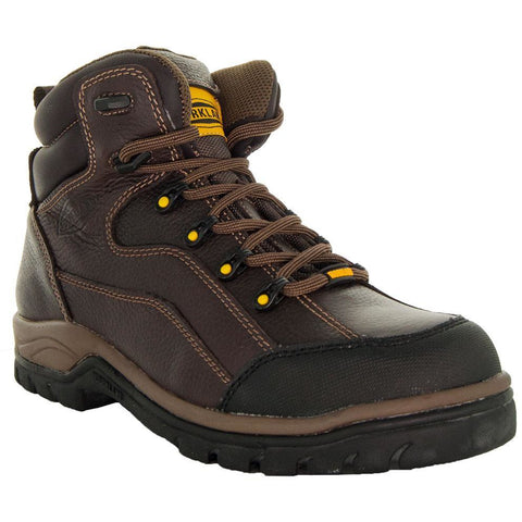 Brown,High Top ankle, Brown Shoe Lace, Oil Resistant, Terrain Men's Work Boots 77403 Main View