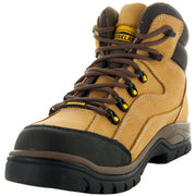 Wheat, High Top ankle, Brown Shoe Lace, Oil Resistant, Terrain Men's Work Boots 77403 Side View, Alt View