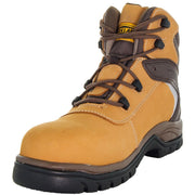 Steelton Men's Leather Work Boots 77443 in Wheat Alternative View