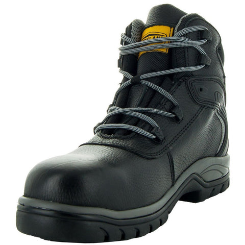 Steelton Men's Leather Work Boots 77443 in Black, Alternative View