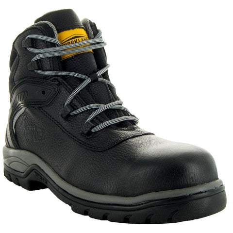 Steelton Men's Leather Work Boots 77443 in Black, Main View