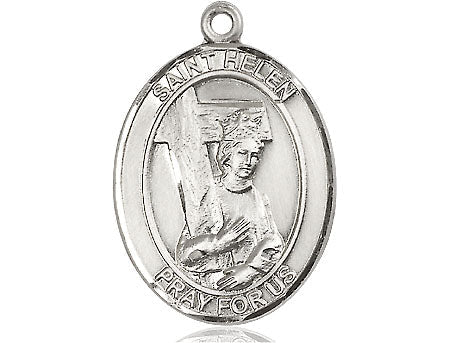 Bliss Patron Saint Quality Silver Filled Mens Womens St Helen Medal   1-inch tall by 3/4 - inch wide  Saint Helen is the Patron Saint of Difficult Marriages/Divorce Classic Style