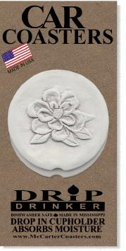 Magnolia Car Coasters