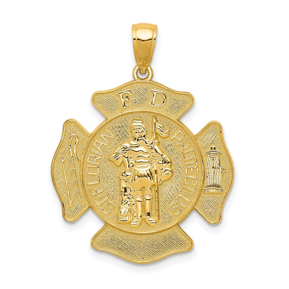 14k Large St. Florian Badge Pendant
