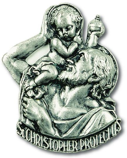 Auto Visor Clip St. Christopher | St. Christopher | Catholic Sacramental | Catholic Teenager | Mens Womens | Confirmation Gift
