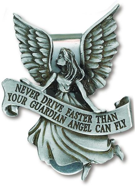 Auto Visor Clip Guardian Angel | Guardian Angel | Catholic Sacramental | Catholic Teenager | Mens Womens | Confirmation Gift