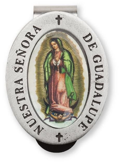 Auto Visor Clip Our Lady of Guadalupe  | Our Lady of Guadalupe | Catholic Sacramental | Catholic Teenager | Mens Womens | Confirmation Gift