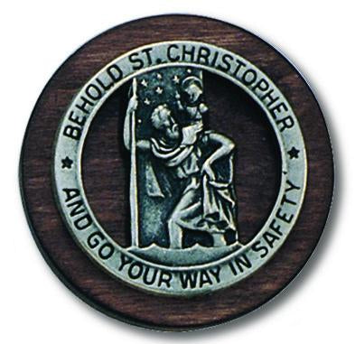 Auto Visor Clip St.Christopher | St. Christopher | Catholic Sacramental | Catholic Teenager | Mens Womens | Confirmation Gift