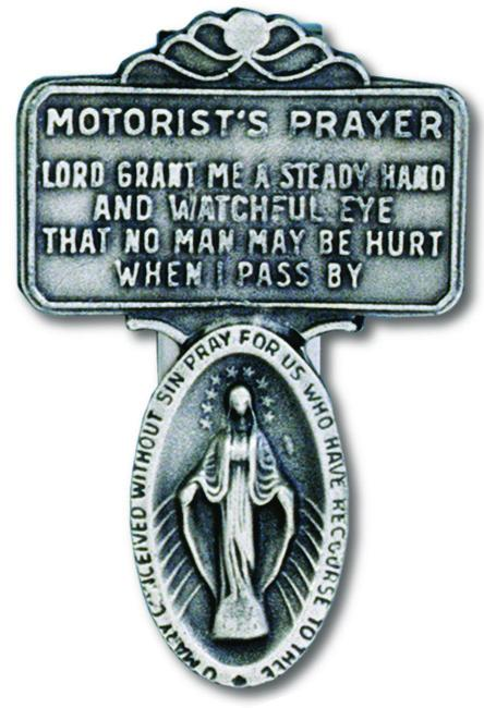 Auto Visor Clip Miraculous Medal Pewter | Miraculous Medal | Catholic Sacramental | Catholic Teenager | Mens Womens | Confirmation Gift