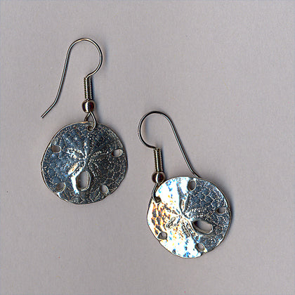 Maurice Milleur Sand Dollar 20mm Earrings