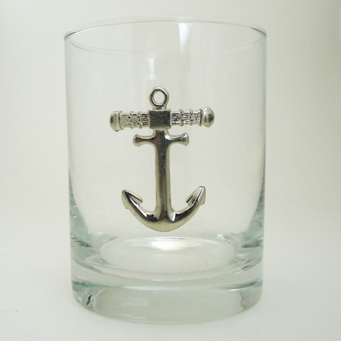 Maurice Milleur Anchor Double Old Fashioned Glasses