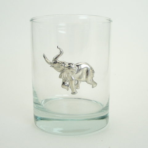 Maurice Milleur Elephant Double Old Fashioned Glasses