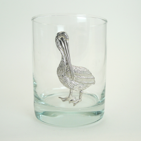 Maurice Milleur Pelican Double Old Fashioned Glasses