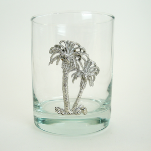 Maurice Milleur Palm Tree Double Old Fashioned Glasses