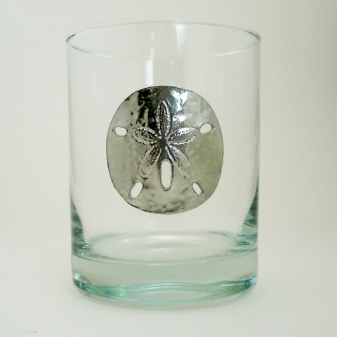 Maurice Milleur Sand Dollar Double Old Fashioned Glasses