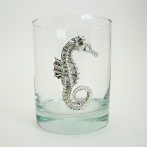 Maurice Milleur Seahorse Double Old Fashioned Glasses