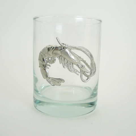 Maurice Milleur Shrimp Double Old Fashioned Glasses
