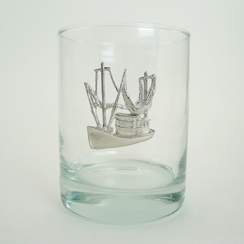 Maurice Milleur Shrimp Boat Double Old Fashioned Glasses