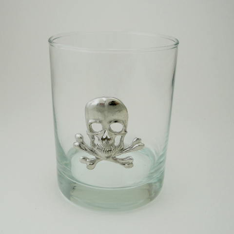 Maurice Milleur Skull Double Old Fashioned Glasses