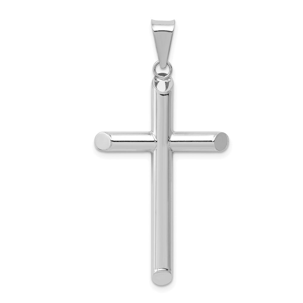 Quality Gold 14k White Gold Polished Hollow Cross Pendant | Polished | 3-D | 14K White gold | Hollow
