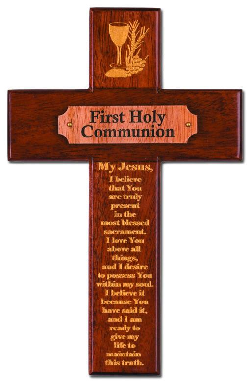"8"" Communion Cross Mahogany 