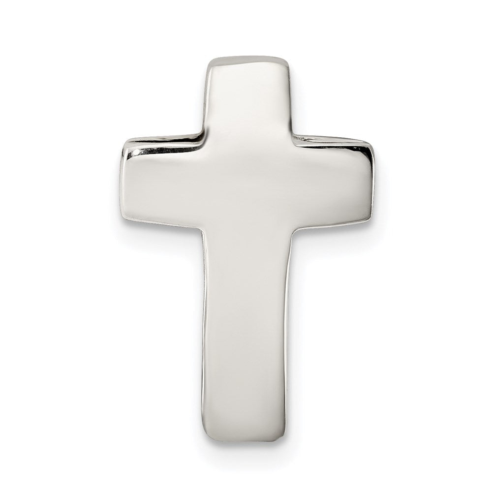 Quality Gold Sterling Silver Cross Charm | Polished | Hollow | Sterling silver | Chain slide