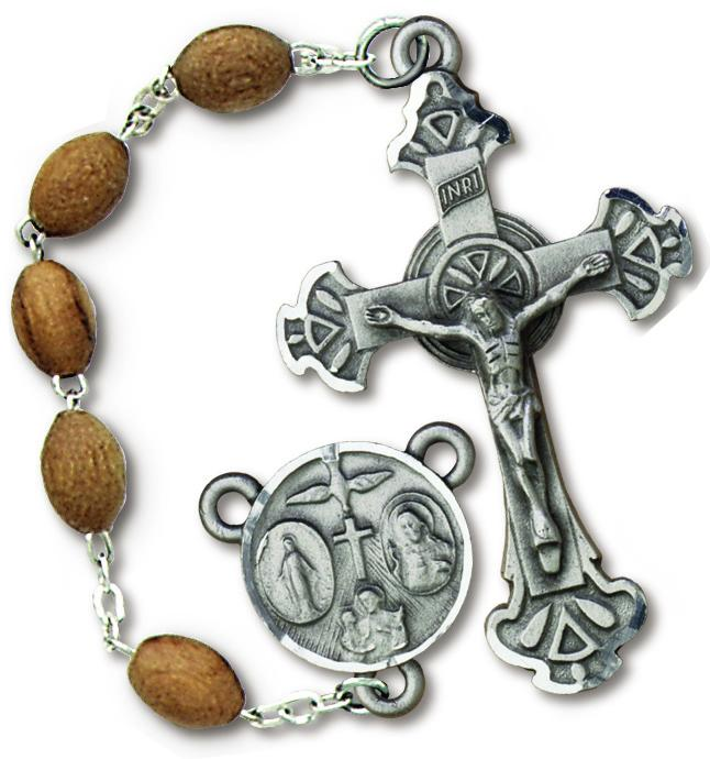 Deluxe Olive Wood Rosary  | Mens Rosary | Catholic Sacramental | Rosary Beads | Mens | Womens