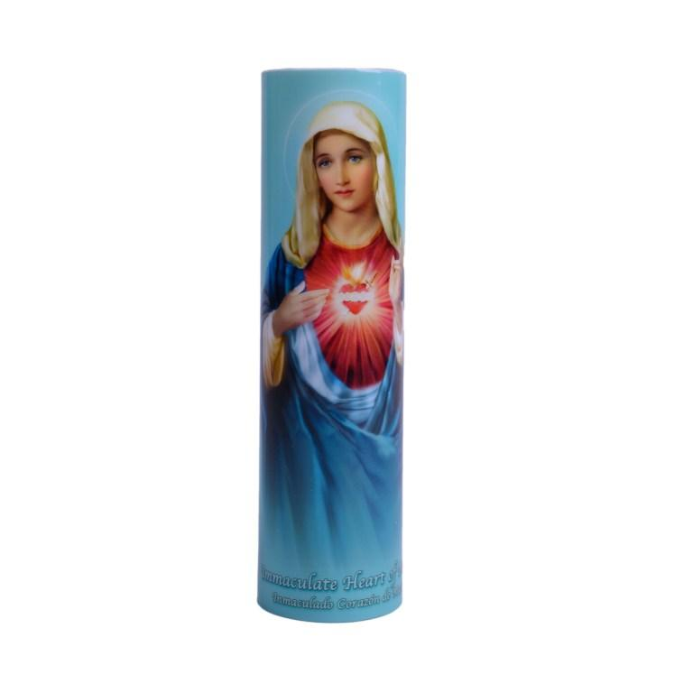Immaculate Heart of Mary LED Candle