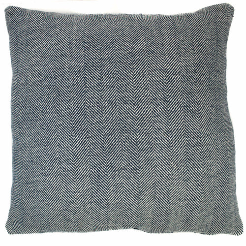 blue white harringbone pattern throw pillow