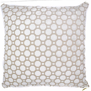 gold white throw pillow zipper