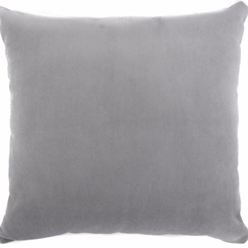 velvet gray throw pillow