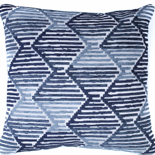 ombre blue pattern throw pillow