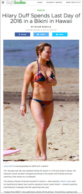 Hilary Duff in Hawaii in ViX