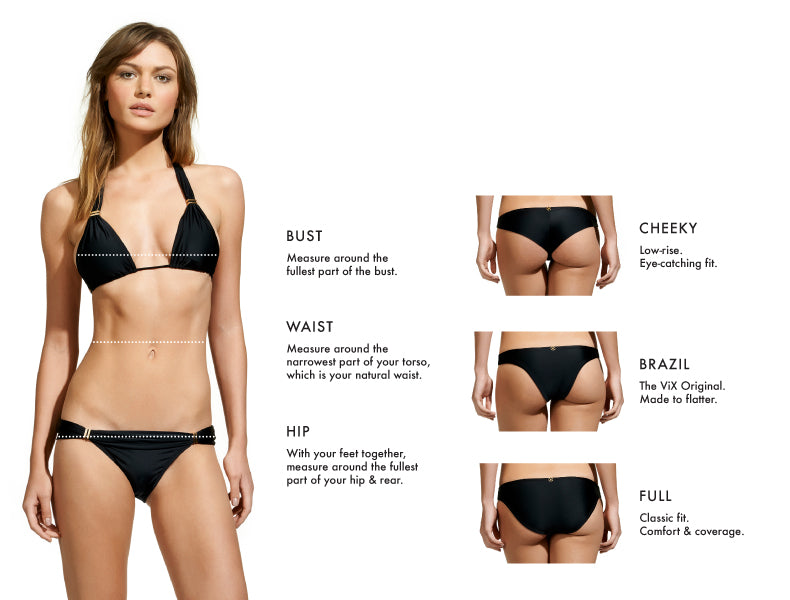 Swimwear Fit Guide & Swimsuit Size Guide | ViX Swimwear