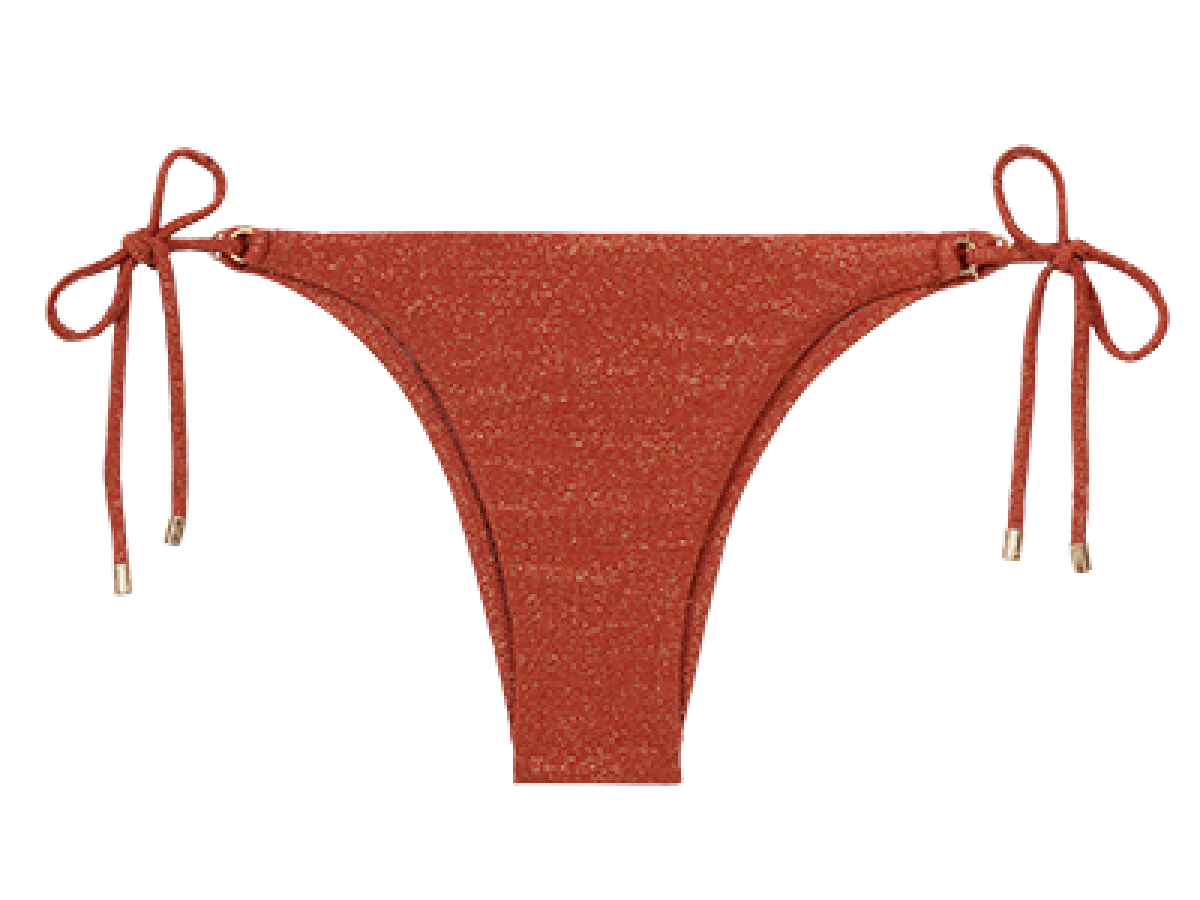 Cinnamon Lurex Tie Side Bottom