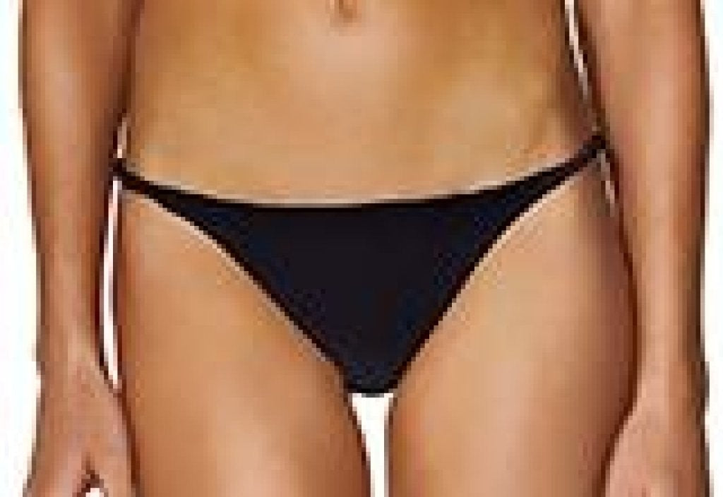 Black Eyelet Ju String Bottom