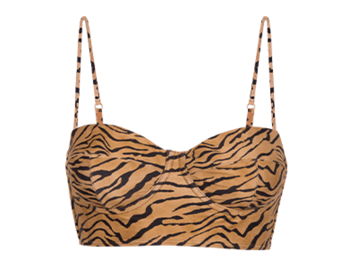Tiger Corsage Long Top