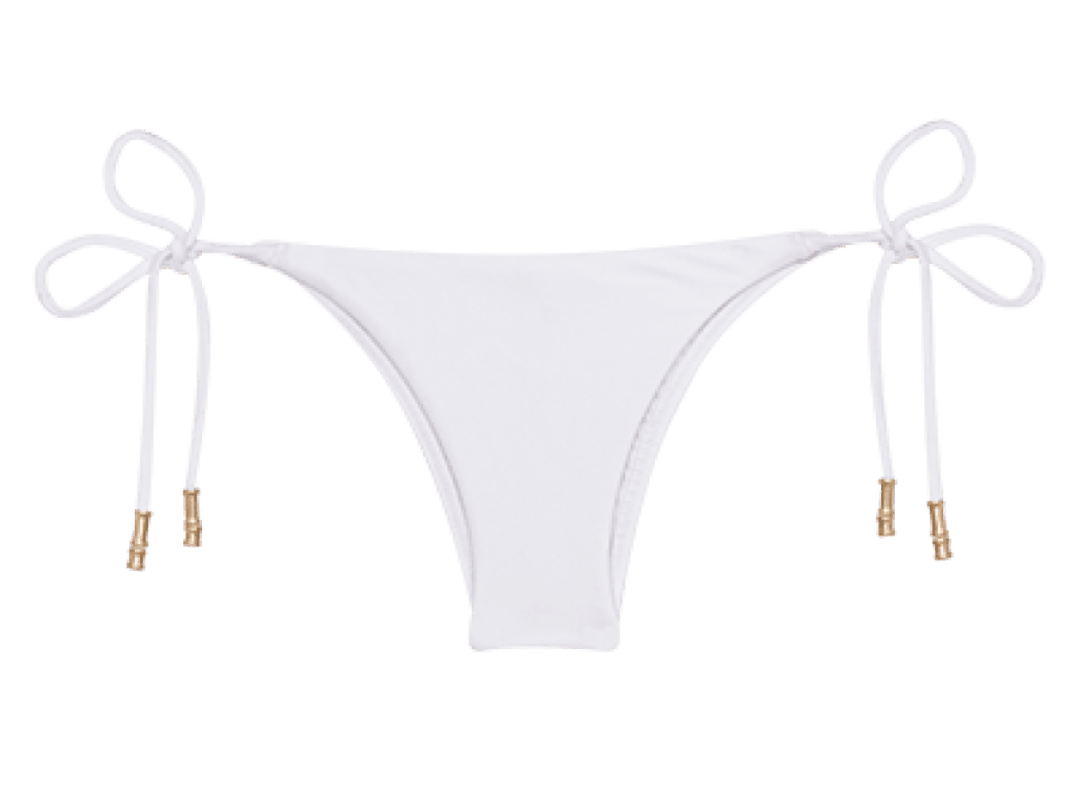 White Lucy Tie Side Bottom