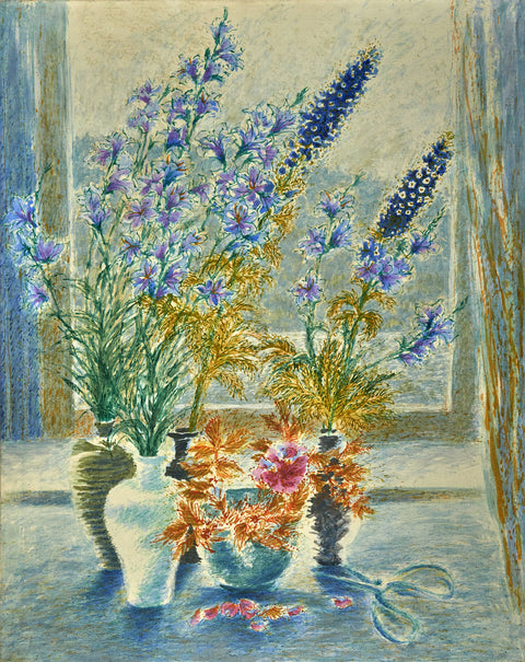 Delphinium in Front of Window