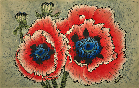 Iconic Pair of Poppies
