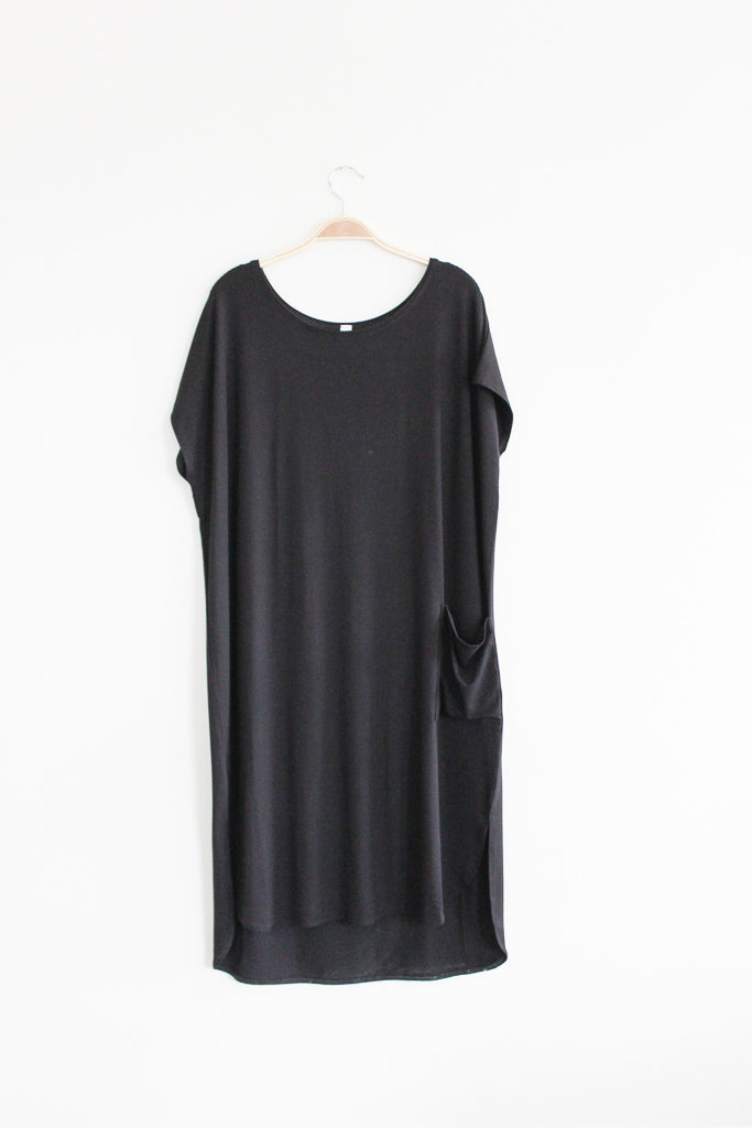 Bamboo Shirttail Pocket Dress