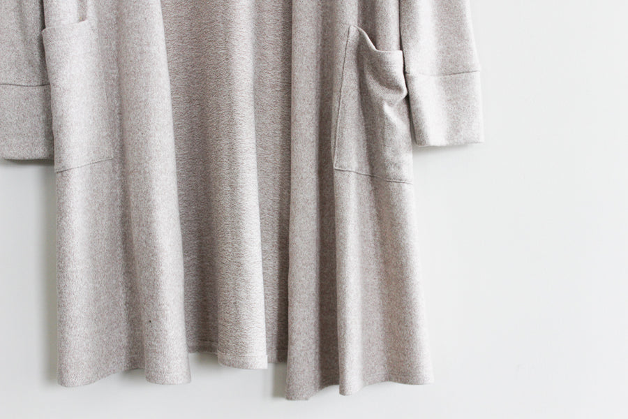 Melange Long Easy Cardigan