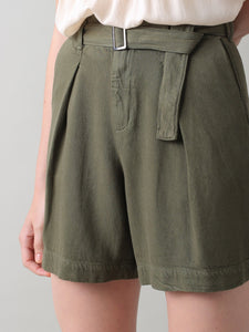 Belted Highwaisted Short