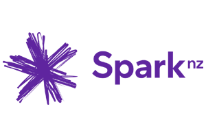 Spark logo featuring a sketched looking purple star