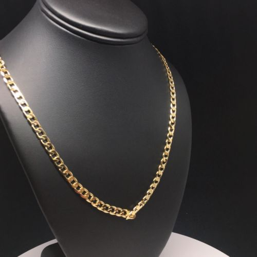 "Gold Plated 26"" 5mm Cuban Link Chain / Cadena Cuban Link 26"" Oro Laminado 5mm - Fran & Co. Jewelry"