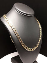Men's Large Hip Hop 30 Inch Cuban Link Chain Gold Laminated 9mm Width - Fran & Co. Jewelry