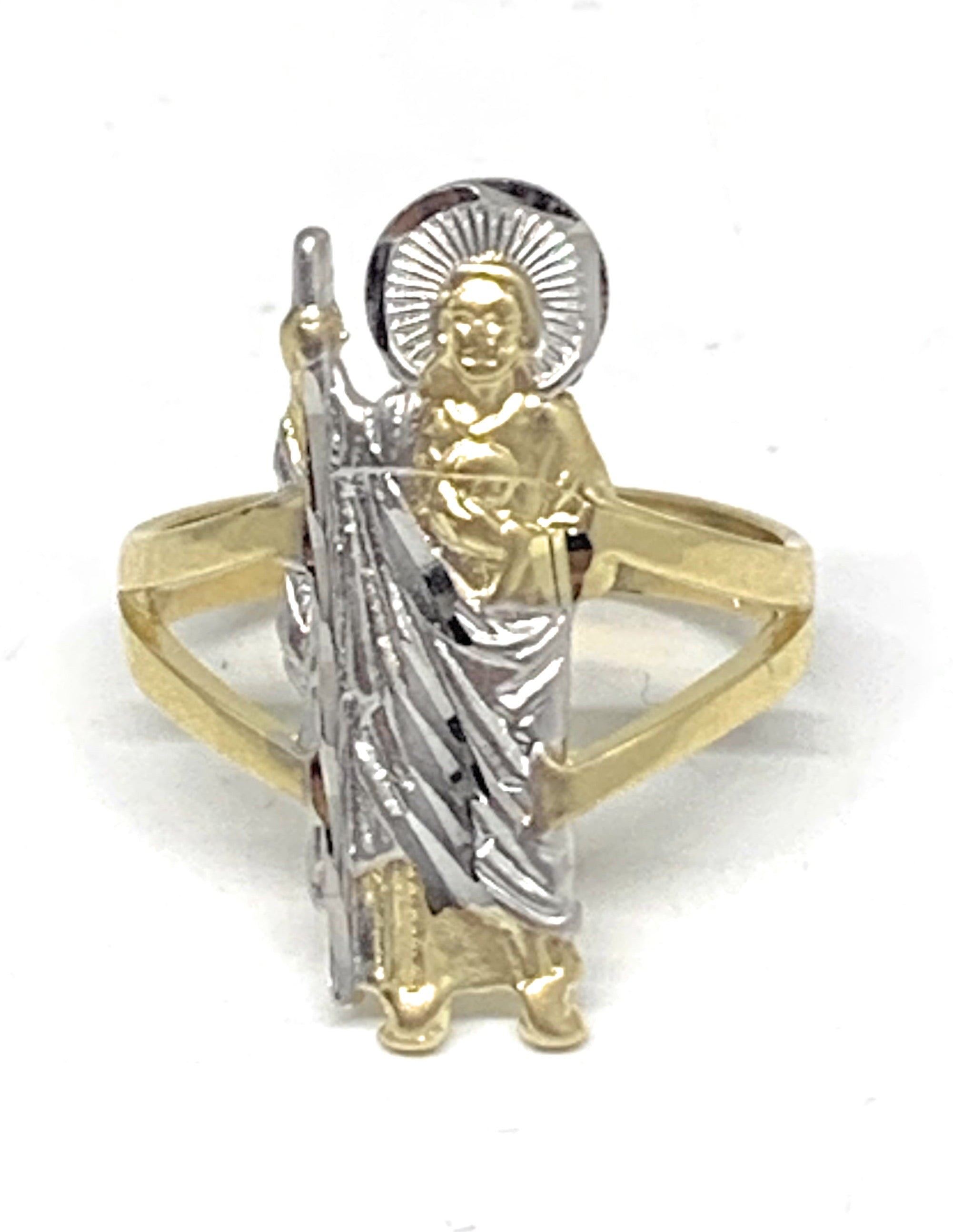 10k Solid Gold Yellow & White Gold Saan Judas Ring