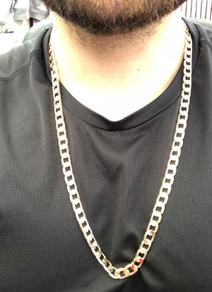 Men's Large Hip Hop 30 Inch Cuban Link Chain Gold Laminated 9mm Width