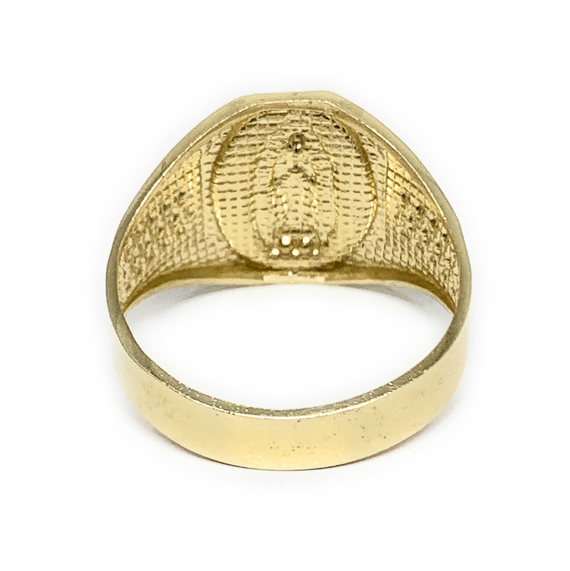 10k Solid Gold Yellow & White Gold Virrgin Mary Ring