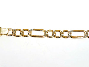 14k Solid Gold Kids 0-8 ID Brracelet 6 inch length 3.5MM-4.25MM Width (Free Engraving, Email us name!)
